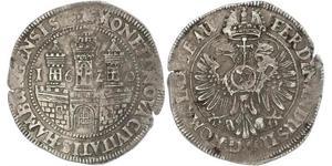 1 Thaler / 32 Shilling Hamburg Silver Ferdinand II, Holy Roman Emperor  (1578 -1637)