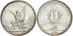 1 Thaler / 5 Franc Suiza Plata