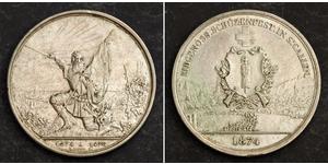1 Thaler / 5 Franc Switzerland Silver
