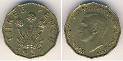 1 Threepence United Kingdom Brass George VI (1895-1952)