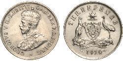 1 Threepence Australia (1788 - 1939) Silver George V of the United Kingdom (1865-1936)