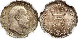 1 Threepence United Kingdom of Great Britain and Ireland (1801-1922) Silver Edward VII (1841-1910)