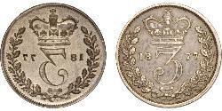 1 Threepence United Kingdom of Great Britain and Ireland (1801-1922) Silver Victoria (1819 - 1901)