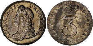1 Threepence / 3 Penny Kingdom of Great Britain (1707-1801) Silver George II (1683-1760)