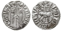 1 Tram Armenian Kingdom of Cilicia (1080-1375) 銀 Hethum I (?-1271)
