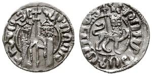 1 Tram Regno armeno di Cilicia (1080-1375) Argento Hethum I (?-1271)