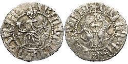 1 Tram Armenisches Königreich von Kilikien (1080-1375) Silber Leo II. (Armenien) (1150-1219)