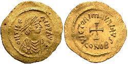 1 Tremissis Byzantinisches Reich (330-1453) Gold Maurikios (539-602)