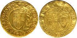 1 Unite Mancomunidad de Inglaterra (1649-1660) Oro