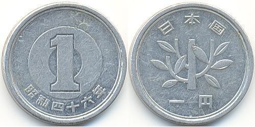 1 Yen Japón Aluminio