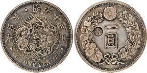 1 Yen Empire du Japon (1868-1947) Argent Meiji the Great (1852 - 1912)