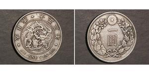 1 Yen Imperio del Japón (1868-1947) Plata Meiji the Great (1852 - 1912)