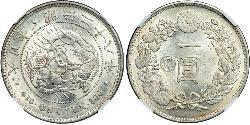 1 Yen Japanisches Kaiserreich (1868-1947) Silber Meiji the Great (1852 - 1912)