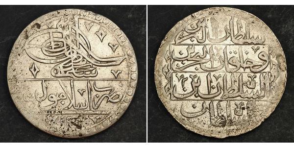 1 Yuzluk / 100 Para Impero ottomano (1299-1923) Argento Selim III