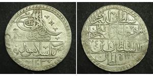1 Yuzluk / 100 Para Osmanisches Reich (1299-1923) Silber Selim III