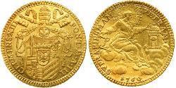 1 Zecchino Папська держава (752-1870) Золото Климент XIII (1693 -1769)