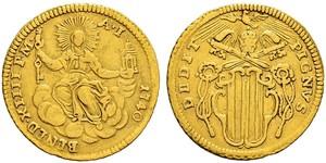 1 Zecchino Папська держава (752-1870) Золото Бенедикт XIV (1675- 1758)