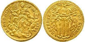 1 Zecchino 教皇国 (754 - 1870) 金 Pope Benedict XIV (1675- 1758)