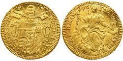 1 Zecchino Kirchenstaat (752-1870) Gold Clemens XIII (1693 -1769)