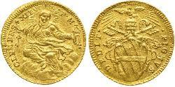 1 Zecchino Papal States (752-1870) Gold Pope Clement XII (1652 - 1740)