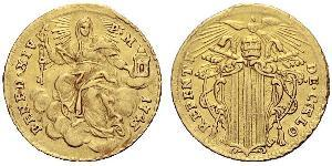 1 Zecchino Papal States (752-1870) Gold Pope Benedict XIV (1675- 1758)