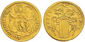 1 Zecchino Papal States (752-1870) Gold Pope Benedict XIV (1675- 1758)