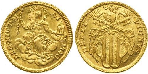 1 Zecchino États pontificaux (752-1870) Or Benoît XIV (1675- 1758)