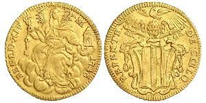 1 Zecchino Stato Pontificio (752-1870) Oro Papa Benedetto XIV (1675- 1758)