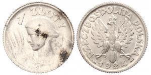 1 Zloty 波兰第二共和国 (1918 - 1939) 銀