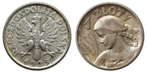 1 Zloty Deuxième République de Pologne (1918 - 1939) Argent