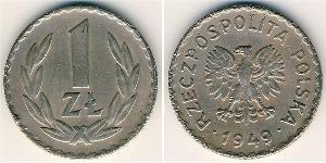 1 Zloty Polen Kupfer/Aluminium/Nickel