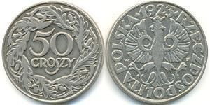 1 Zloty Second Polish Republic (1918 - 1939) Nickel