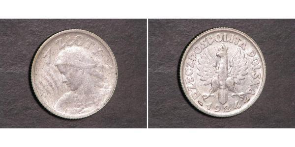 1 Zloty Zweite Polnische Republik (1918 - 1939) Silber