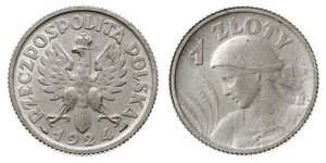1 Zloty Second Polish Republic (1918 - 1939) Silver