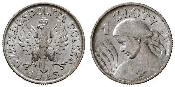 1 Zloty Second Polish Republic (1918 - 1939) Silver