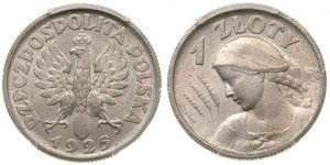 1 Zloty Second Polish Republic (1918 - 1939)