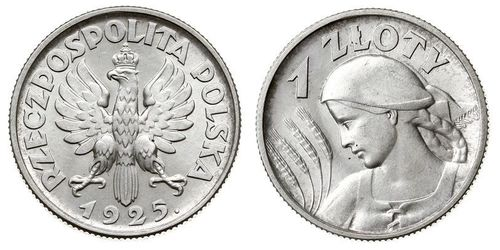 1 Zloty Second Polish Republic (1918 - 1939)