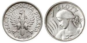 1 Zloty Segunda República Polaca (1918 - 1939)