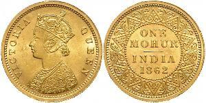 1vet Mohur Britisch-Indien (1858-1947) Gold Victoria (1819 - 1901)