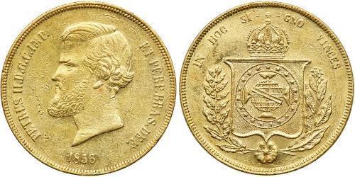 20000 Рейс Бразильская империя (1822-1889) Золото Педру II (император Бразилии) (1825 - 1891)
