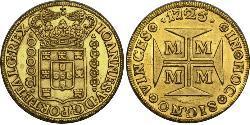 20000 Reis Brasilien Gold Johann V. von Portugal (1689-1750)