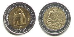 2000 Peso United Mexican States (1867 - ) Bimetal