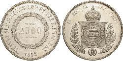 2000 Real Empire of Brazil (1822-1889) Silver