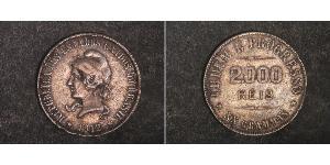2000 Reis Brasilien Silber