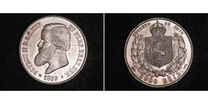 2000 Reis Empire of Brazil (1822-1889) Silber Peter II. (Brasilien) (1825 - 1891)
