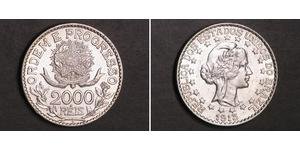 2000 Reis Brazil Silver