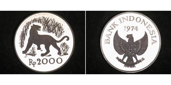 2000 Rupia Indonesia Plata