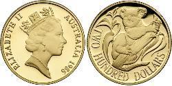 200 Доллар Австралия (1939 - ) Золото Елизавета II (1926-)