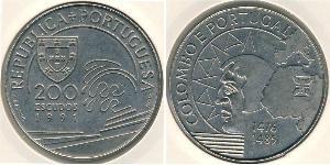 200 Ескудо Португальська Республіка (1975 - ) Нікель/Мідь
