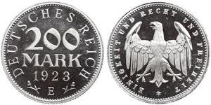 200 Марка Веймарська республіка (1918-1933) Алюміній